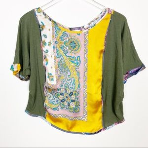 {Anthro} Tiny Reeves Paisley top